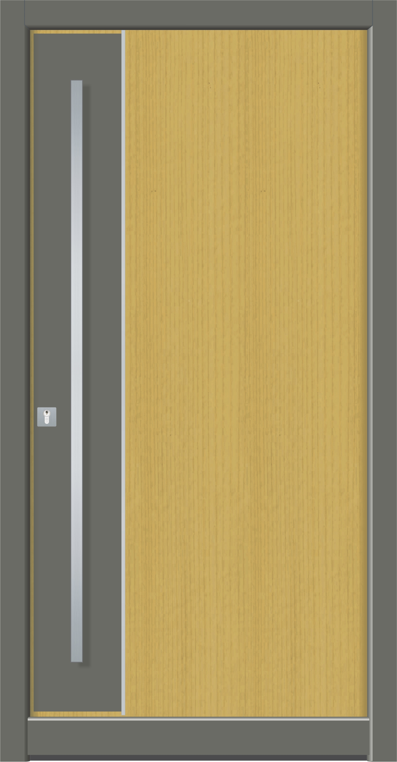Holz/Aluminiumhaustüren